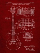 Guitar & Combined Bridge & Tailpiece Therefor Patent - Burgundy
