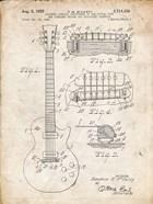 Guitar & Combined Bridge & Tailpiece Therefor Patent - Vintage Parchment