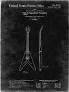 Stringed Musical Instrument Patent - Black Grunge