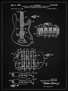 Electric Guitar Patent - Vintage Black