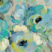 Fresh Teal Flowers III