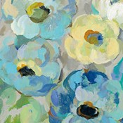 Fresh Teal Flowers II