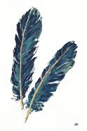 Gold Feathers IV Indigo