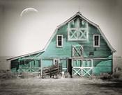 Teal Green Luna Barn