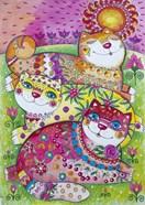 3 Happy Cats