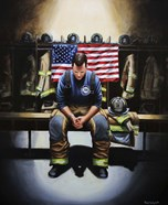 Praying Firefighter