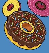 Doughnuts On Blue