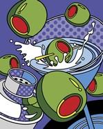 Martini Flying Olives