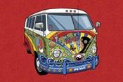 Sixties VW Hippy Van