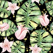 Tropical Monstera Floral Pattern