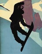 Snowboarding Betty Morning Light