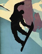 Snowboarding Dude Morning Light