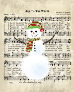 Snowman Conducts Joy To The World