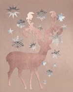 Park Avenue Rosegold Deer in the Silver Snow