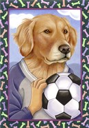 Golden Retriever Soccer Ball