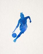 Basketball Girl Watercolor Silhouette Part II