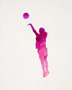 Basketball Girl Watercolor Silhouette Part IV