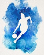 Basketball Girl Watercolor Silhouette Inverted Part II