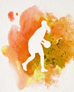 Basketball Girl Watercolor Silhouette Inverted Part III