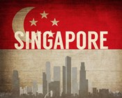 Singapore - Flags and Skyline