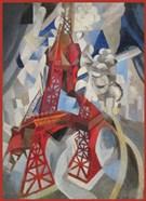 Red Eiffel Tower Delaunay 1911