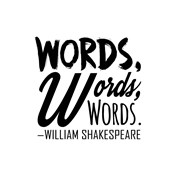 Words Words Words Shakespeare Black