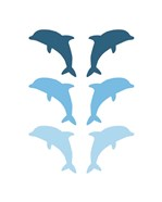 Leaping Dolphins - Blue
