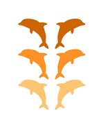 Leaping Dolphins - Orange