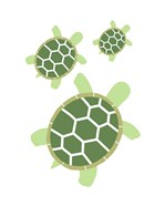 Three Turtles - Green