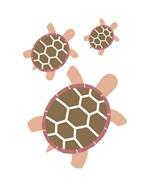 Three Turtles - Red