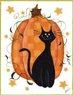 Checked Pumpkin & Cat