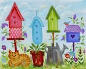Bird Houses In Garden