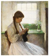 Women Knitting