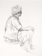 Man Sitting Sketch