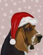 Basset Hound, Christmas Hat
