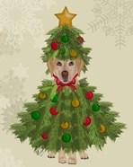 Yellow Labrador, Christmas Tree Costume