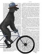 Poodle on Bicycle, Black