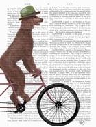 Poodle on Bicycle, Brown