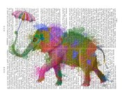 Rainbow Splash Elephant