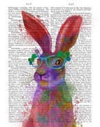 Rainbow Splash Rabbit 2, Portrait