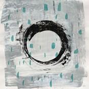 Zen Circle I Crop with Teal