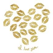 I Love you Gold Lips