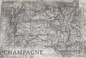 Champagne Map White