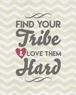 Find Your Tribe - Beige Chevron Pattern