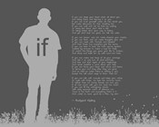If by Rudyard Kipling - Man Silhouette Gray