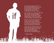 If by Rudyard Kipling - Man Silhouette Red
