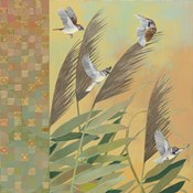 Sparrows and Phragmates August Evening