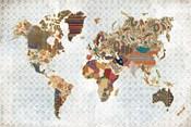 Pattern World Map Geo Background