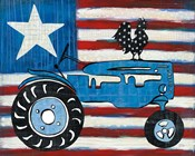 Modern Americana Flag with Tractor