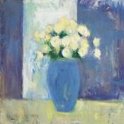 Ranunculi in Blue Vase